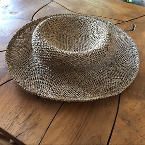 Vintage Straw Hat Country Farm Small